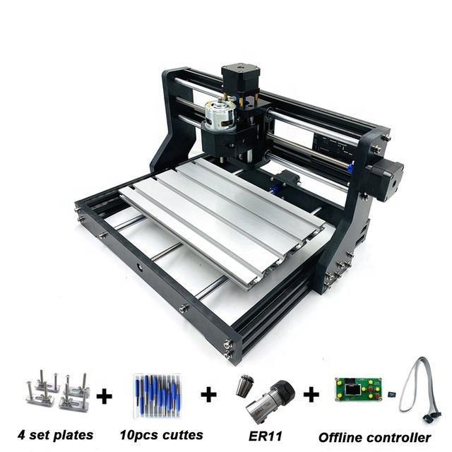 Фрезерный лазерный гравировальный станок CNC3018Pro + с ЧПУ