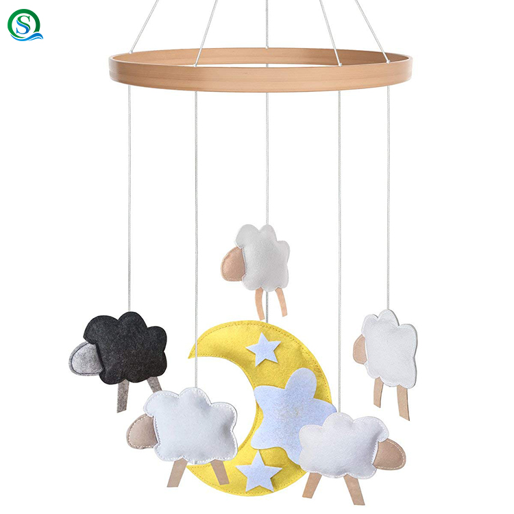 Baby Mobile for Crib Felt, Hanging Toys, Safe, Non-Toxic, Soft Toys for Newborn