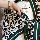 Design Cashmere Scarf OEM Service Hotsale Knitted Amice Leopard Jacquard Triangle Shawl Ladies Scarf Cashmere Poncho