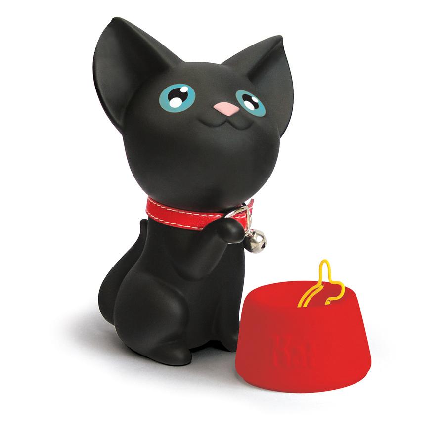 Оптовая продажа, магнитный держатель для бумаги в форме кошки с зажимами для бумаги