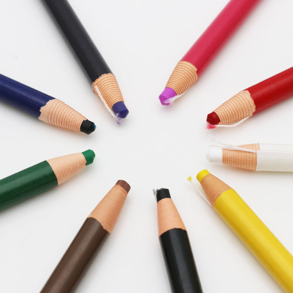12pcs China Marker Bullet Grease Pencils Crayons Pencils Peel Off Markers Chinagraph Grease Wax Pencil for Metal Glass
