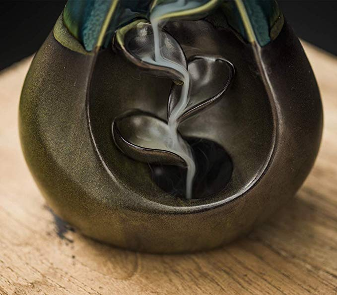 Pear shape Backflow Incense Burner Ceramic Antique Porcelain Vase Waterfall Decorations