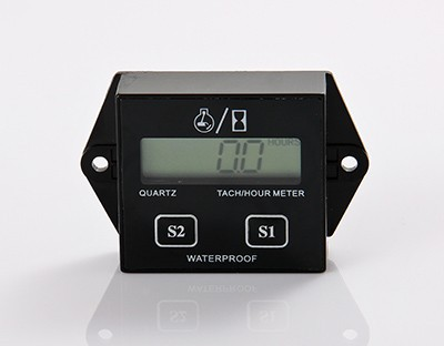 Sweet-Tempered Lcd Inductive Digital Hour Meter For Jet Ski Motorcycle Snowmobile Marine Atv Lawn Mower Glider Paramotor Motor Green Clear And Distinctive Motorcycle Accessories & Parts Automobiles & Motorcycles