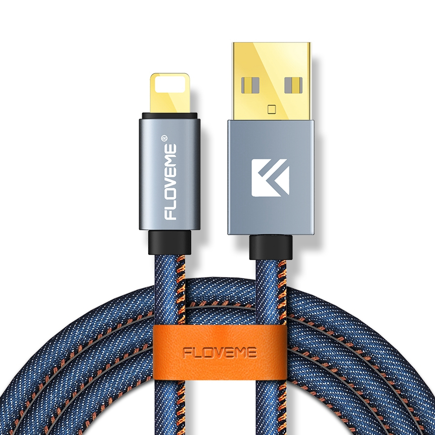Accept Custom FLOVEME 2.1A usb charging cable for iPhone
