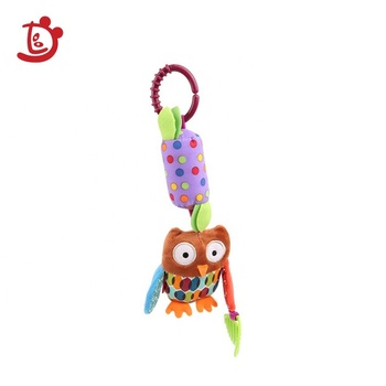Lovely Night Owl Hanging Plush Musical Mobile Baby For Infant Cribs