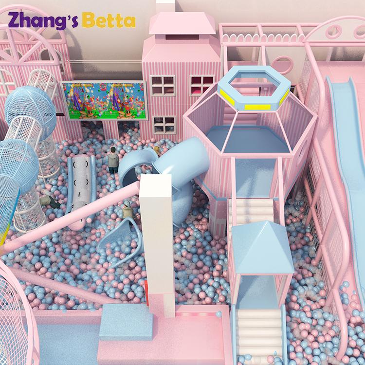 Розовая тема, оборудование для игровых площадок, Детская крытая игровая площадка