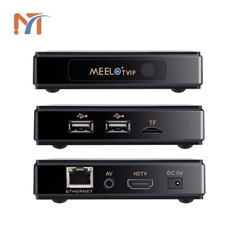 New Meelo+TVIP Amlogic S805 Quad Core 512MB/4G Arabic iptv French Indian USA UK Italain channels Linux tv box