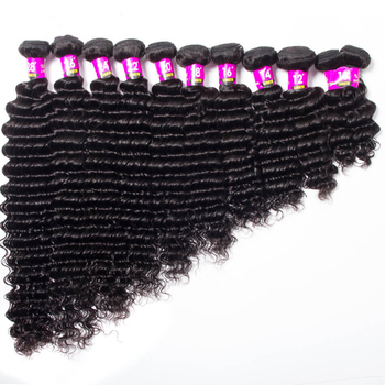 New Arrivals Deep Wave Brazilian Human Virgin Hair Bundles with Lace Frontal Closure Human Hair