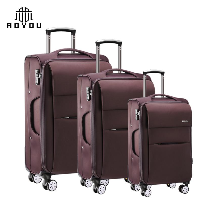 2019 hot selling 3pcs 20 24 28inch trolley nylon travel set suitcase luggage sets