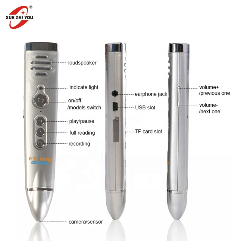 Factory Customized Reading Pen for Kids Digital Learning Machine Musical Toy Talking Pen Learning English