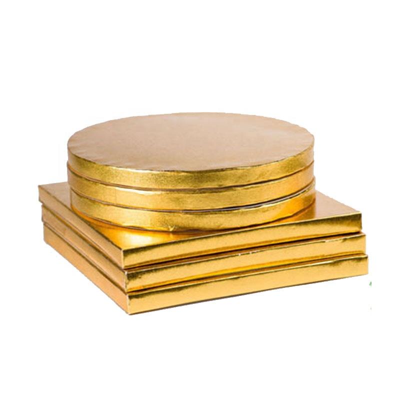 Round silver scalloped foil corrugated cake board cake drum