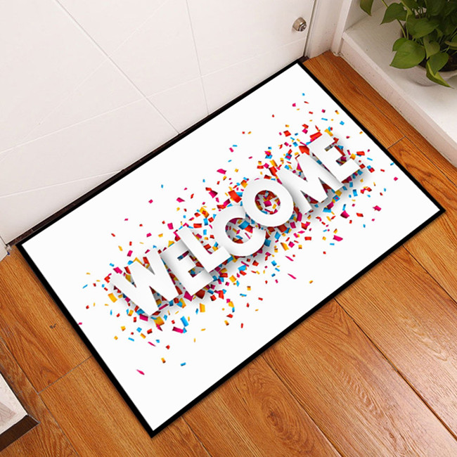 Funny entrance natural rubber blank door mat, floor mat for dye sublimation
