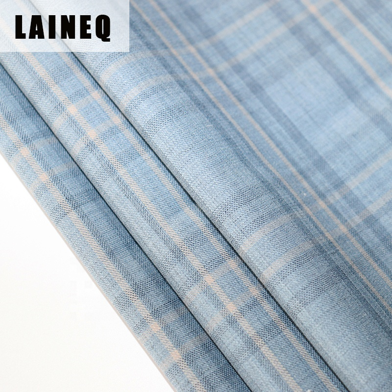 Super 120s worsted wool  plaid fabric for men's jacket and suit 270g/m