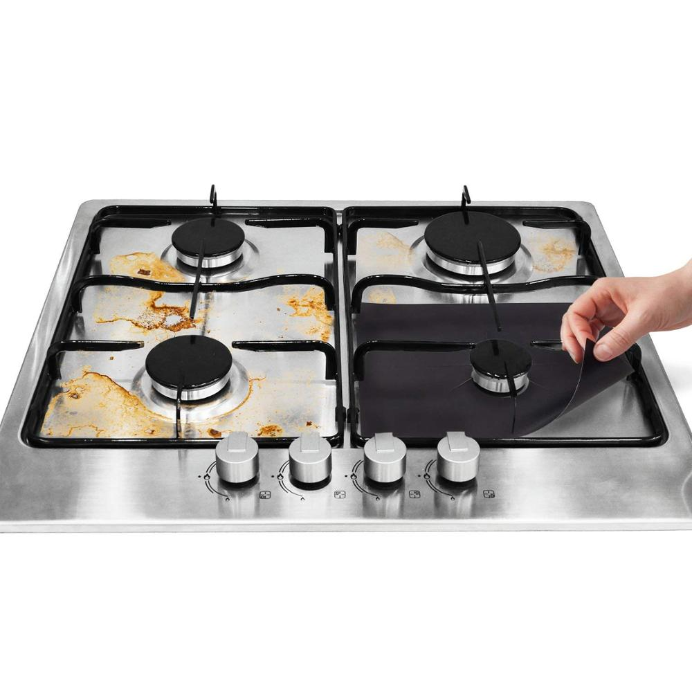 Set Of 4pcs 27*27cm Non-stick Gas Hob Gas Cooker Stove Top keep Clean On Top Of Stove