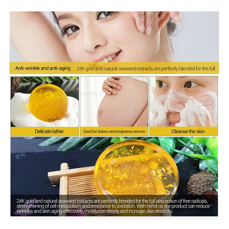 Private Label 24k Gold Whitening Anti Aging Soap