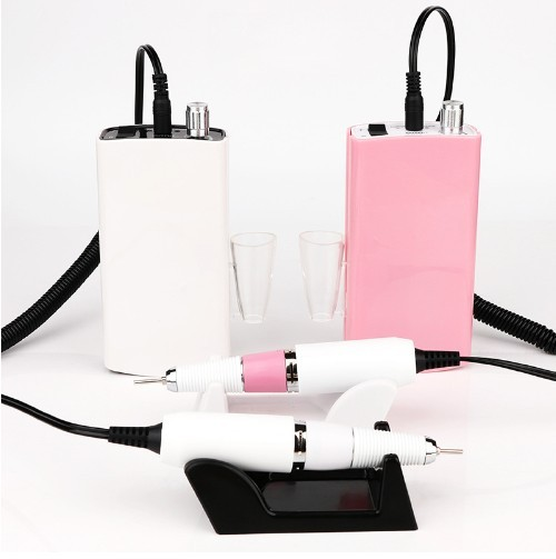 Portable Pink Nail Drill machine 30000rpm electric Wireless Cordless Rechargeable Nail Drill 801