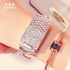 Wholesale g&d Women Watch Relogio Feminino Luxury Bracelet Crystal Evening Watch with Diamonds Cover