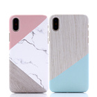 Joining together marble Hard PC Mobile phone case cover for iPhone XS MAX