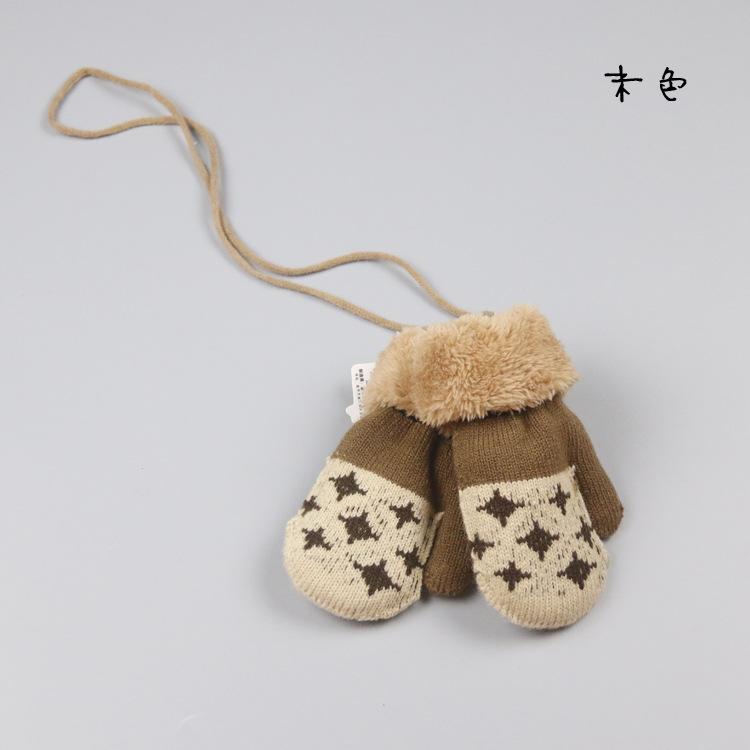Зимняя одежда для маленьких мальчиков и девочек, вязаные перчатки теплые варежки перчатки для детей в возрасте от года до трёх лет,