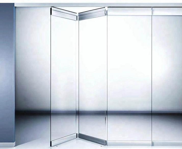 Распродажа, высококачественные бескаркасные складные стеклянные двери, современный дизайн и изготовление на заказ дверей и окон