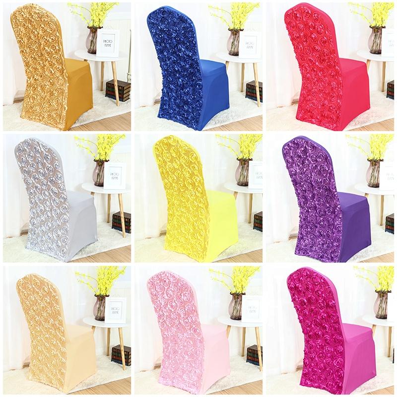 Белый цветочный чехол на стул из спандекса/белый свадебный чехол на стул