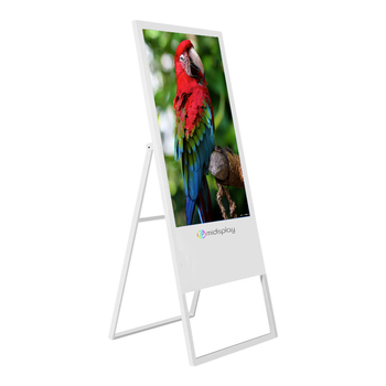 Touch screen super enjoy led display video advertising player tv curved with sumsang LCD digital standee