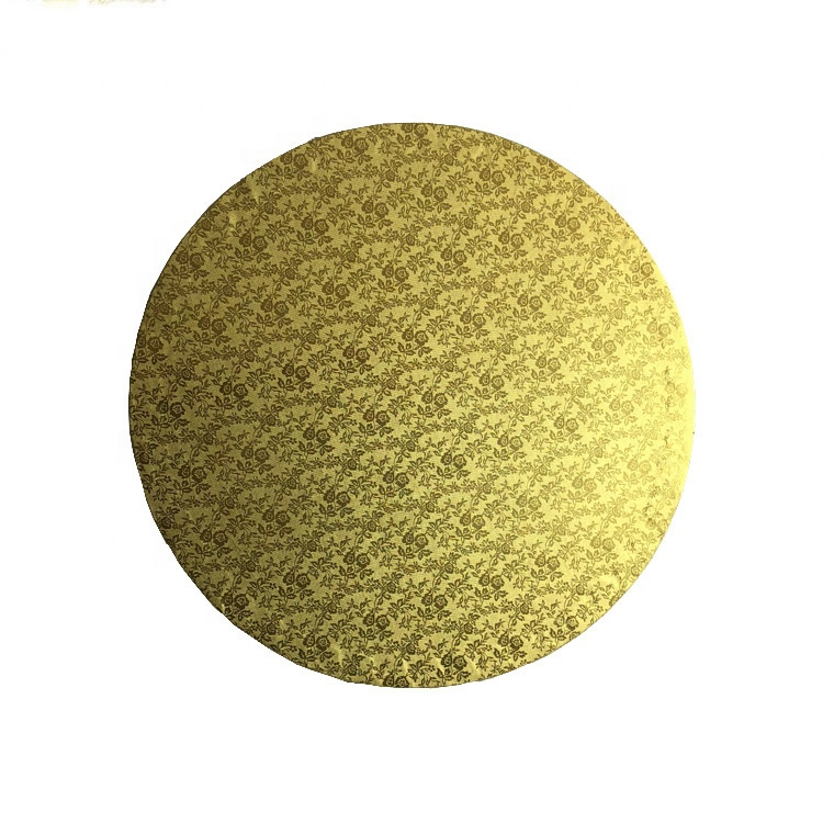Golden Foil Corrugated cake board cake drum with Round shape