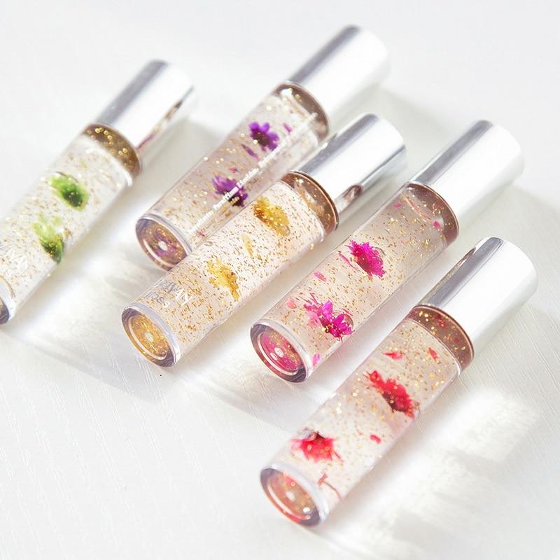 OEM/ODM फूल सोने की पन्नी रंग बदलते कॉस्मेटिक चमकदार Lipgloss