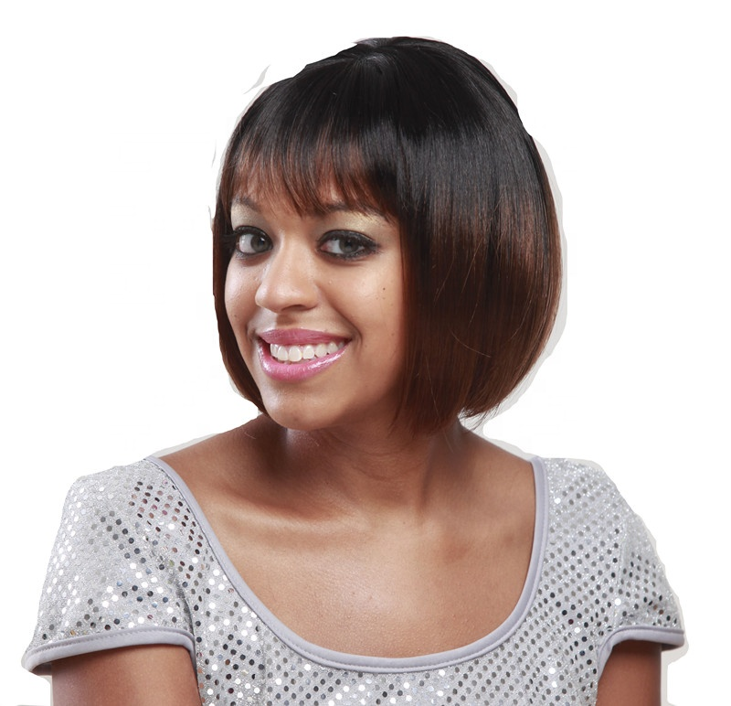 Short Perruque synthetic Straight Bob Wig Cosplay Synthetic Machine Made Wigs
