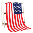 High Quality Sublimation Printing Hotel Shower Quick-Dry USA Flag Microfiber Beach Towel With Logo