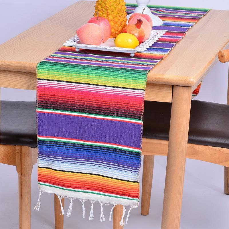 Недорогие украшения для стола YRYIE в мексиканском стиле, 14x84 дюймов, оптом