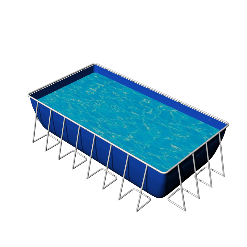Large Swimming Pool customized 0.65mm 0.9mm PVC Steel frame water pool for sale