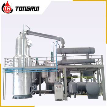Black Motor Oil Recycling Used Engine Oil Distillation Plant With Newest Technology