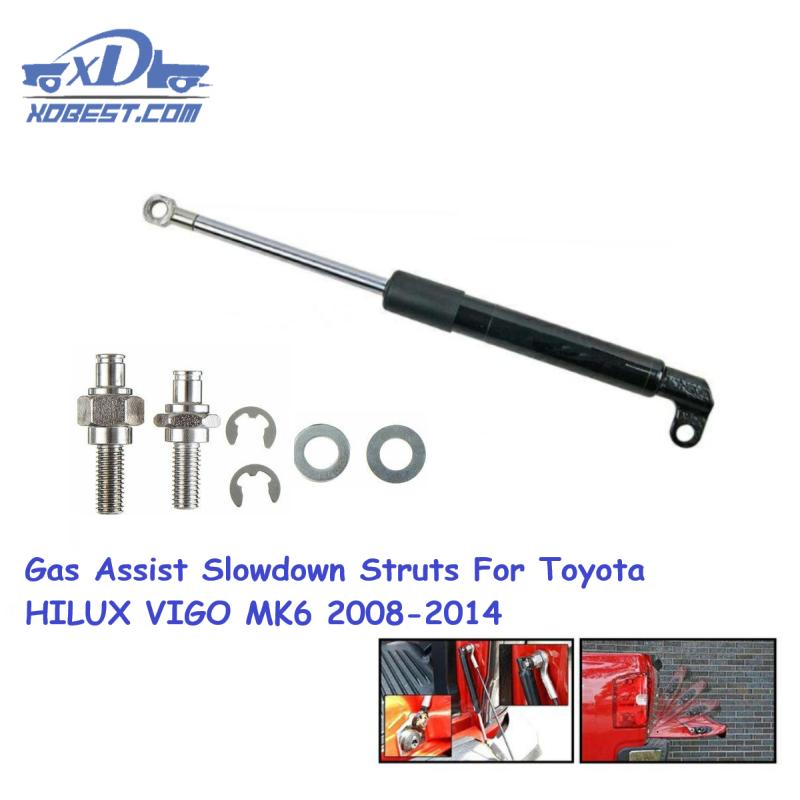 Автомобильный газовый пружинный капот, газовый демпфер, комплект подъема для TOYOTA Hilux VIGO MK6 Revo M70 M80, поддерживающий подъемник для замедления капота
