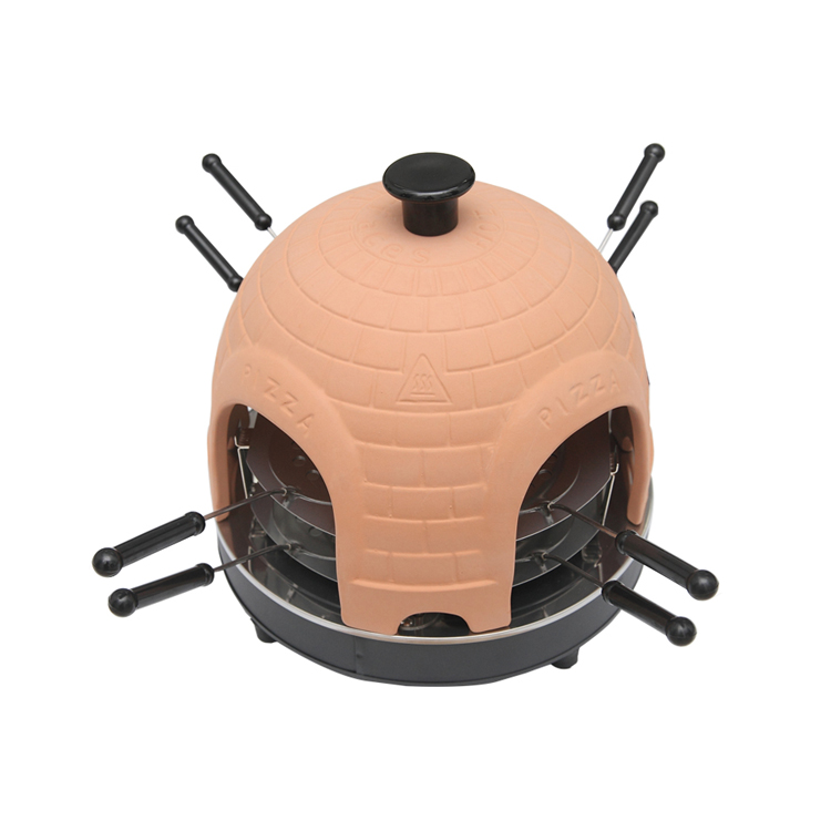 Professional Home Ceramic Electric Pizza Oven Dome For 8 Person