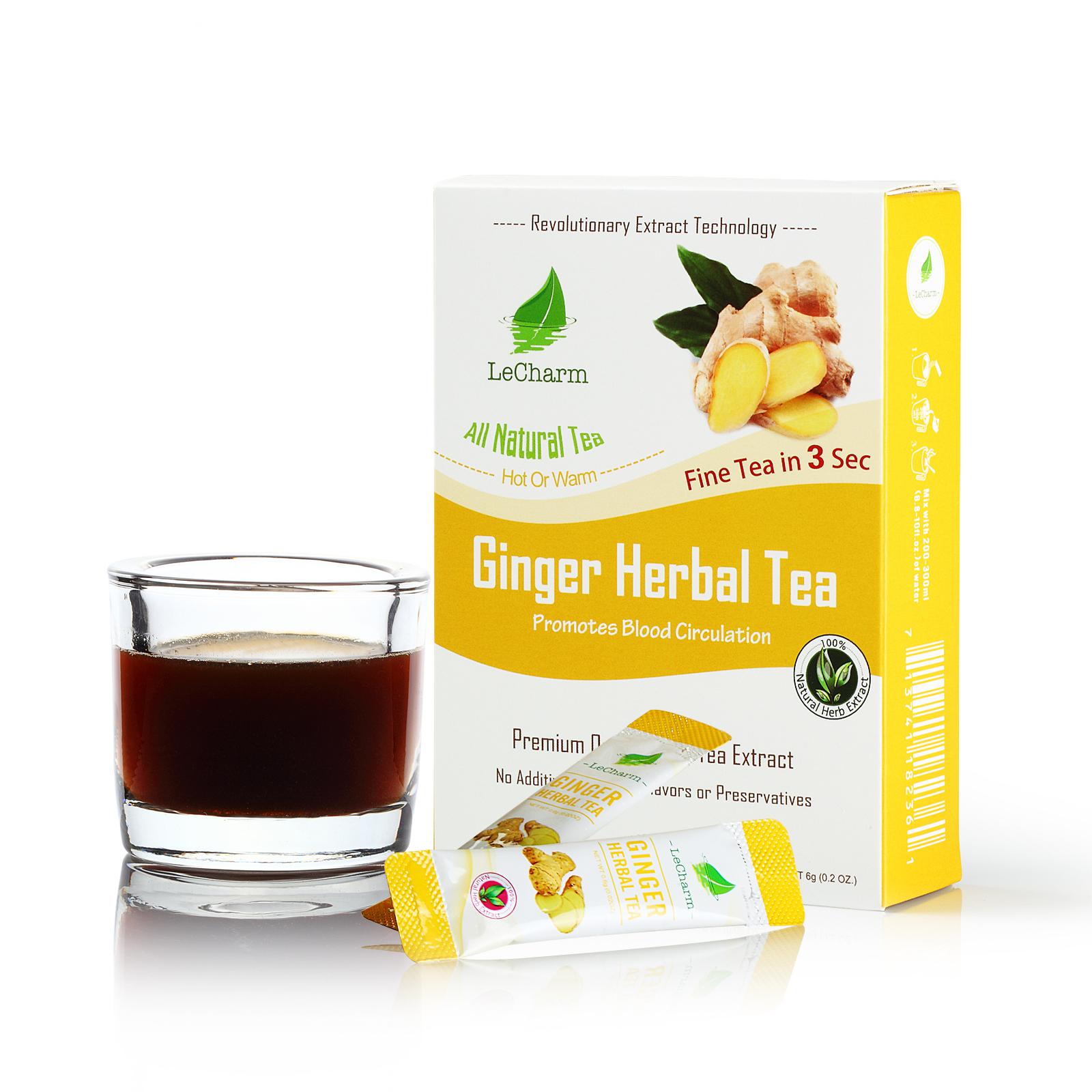 Natural Sweet Instant Red Dates Ginger Herbal Tea Sachet Package - 4uTea   4uTea.com