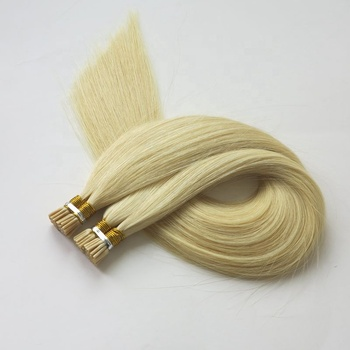 Harmony 100% cuticle virgin remy European human hair extensions double drawn i-tip hair extension