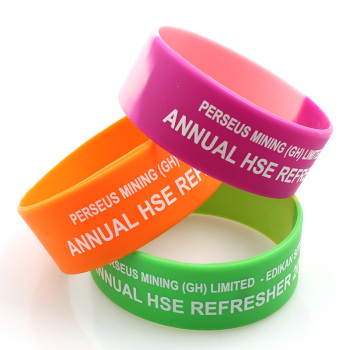 Hot sell customized glowing in dark silicone rubber bracelet wristbands for Events