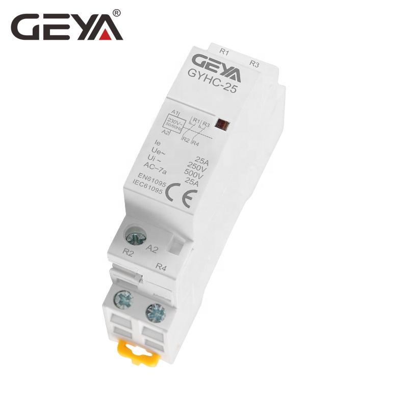 Контактор переменного тока GEYA GYHC Din Rail 2P 25A 2NO или 2NC или 1NO1NC 220 В магнитные замыкатели для распределительного механизма низкого напряжения
