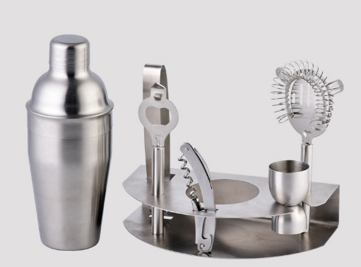 High Quality Set of Stainless Steel 7 Piece Cocktail Shakers