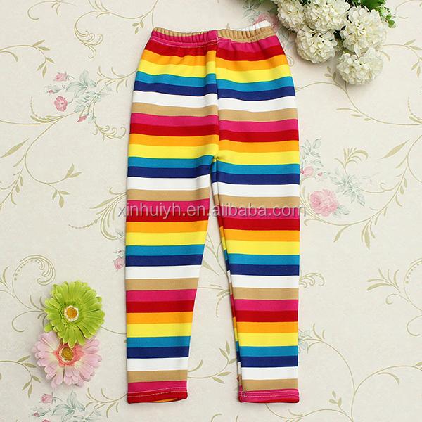 Лучшее качество Детские хлопковые яркие полосы детские длинные штаны оптовая пользовательские