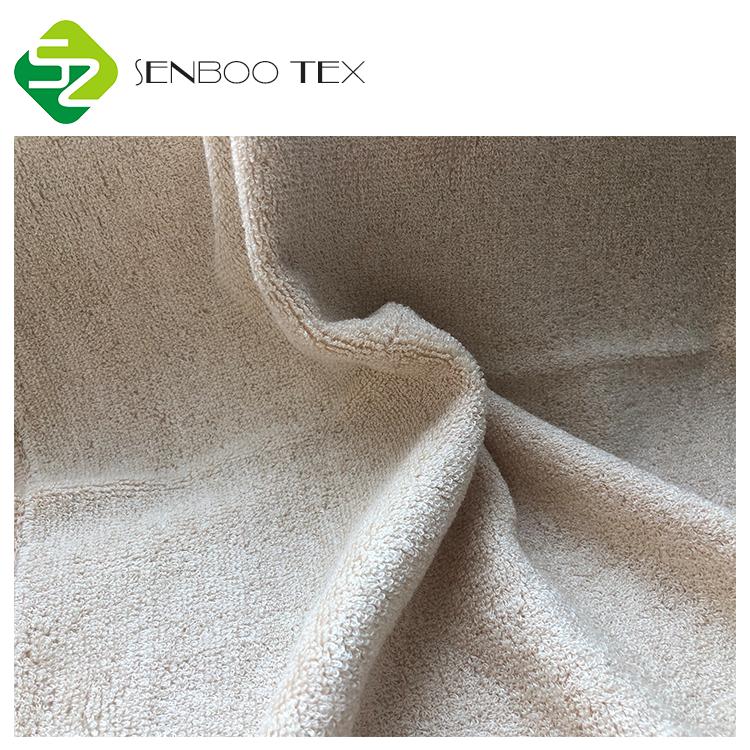 Махровая ткань из 100% бамбукового волокна, не впитывающая химические веществ, вискоза, ткань с петлями для детских полотенец с капюшоном