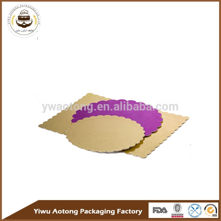 Round shape wood cake base for bakery MDF cake boards with printing custom size cakeboard