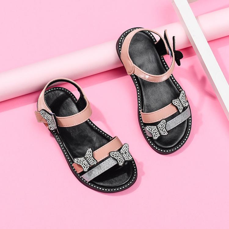 Новинка, летние сандалии в Корейском стиле на мягкой подошве для девочек, детская обувь