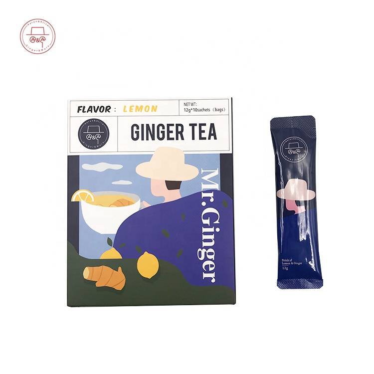 halal ginger tea with lemon extract by Chinese factory - 4uTea | 4uTea.com