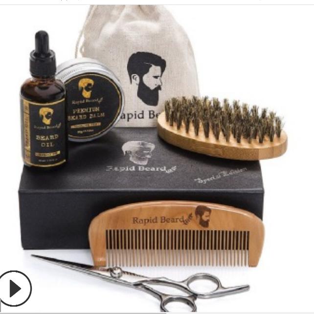 Amazon Men's Beard Wax Oil Top tour set beard oils moisturizes eliminates itching dandruff mustache oil