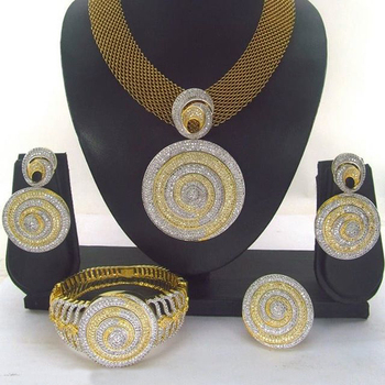 Queency indian gold jewelry bridal jewelry for women design saudi gold jewelry set