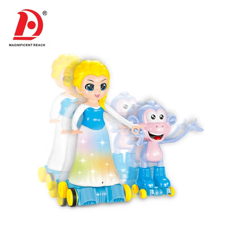HUADA 2019 ABS пластиковая инфракрасная электрическая танцующая девушка кукла музыкальный пульт дистанционного управления RC игрушка-робот