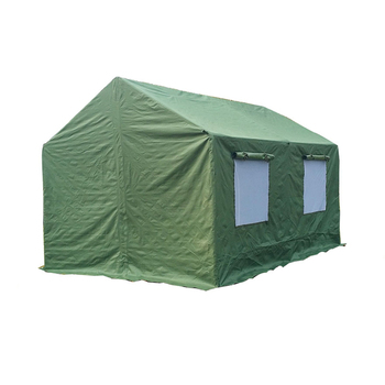 W0648 Portable military cotton canvas small wall army tent ridge pole tent