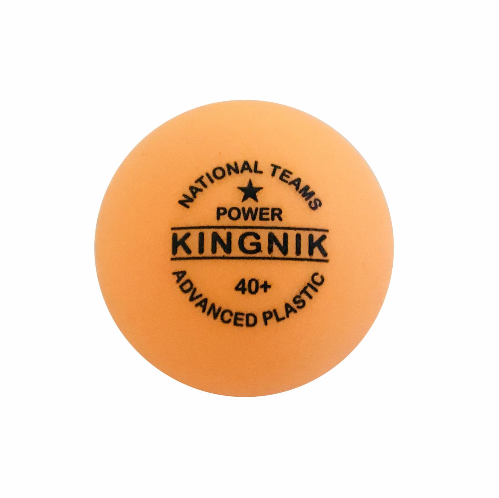 New! KINGNIK table tennis ball national teams 1 Star power 40+ plastic white (customized logo)